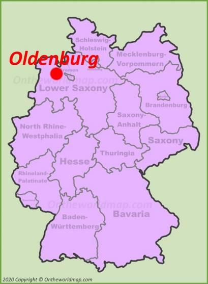 Oldenburg Location Map