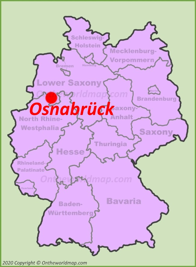 Osnabrück location on the Germany map
