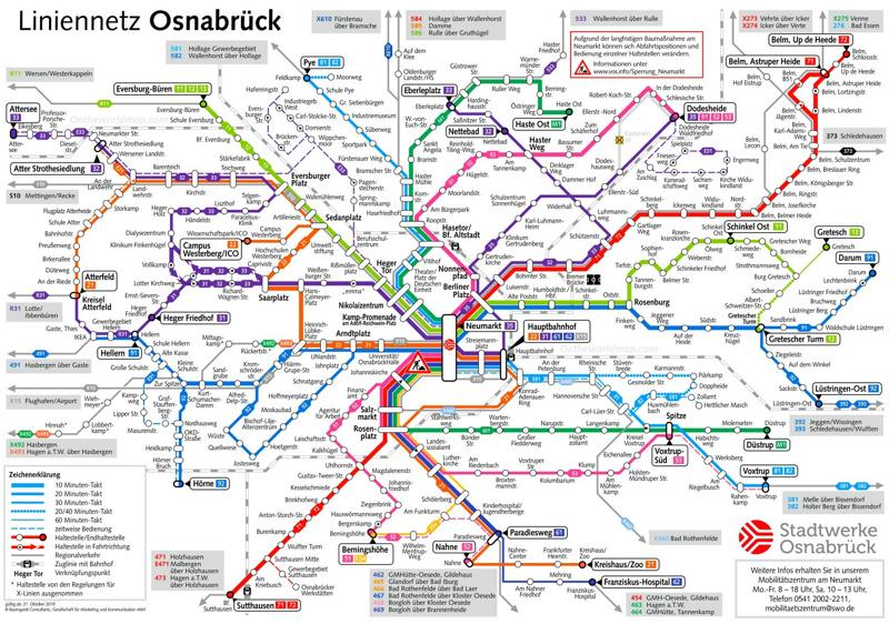 Osnabrück Transport Map