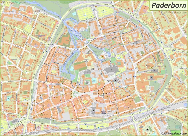 Map of Paderborn