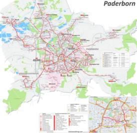 Paderborn Transport Map