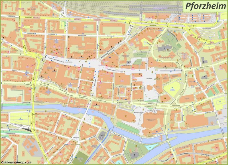 Map of Pforzheim