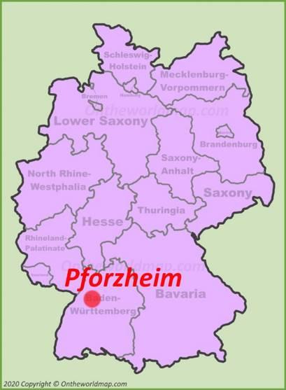 Pforzheim Location Map