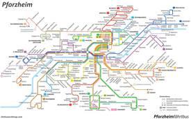 Pforzheim Transport Map