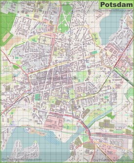 Large detailed map of Potsdam