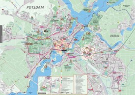 Potsdam tourist attractions map