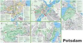 Potsdam tourist map
