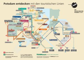 Potsdam tourist tram map