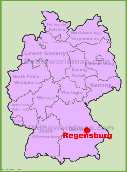 Regensburg Location Map