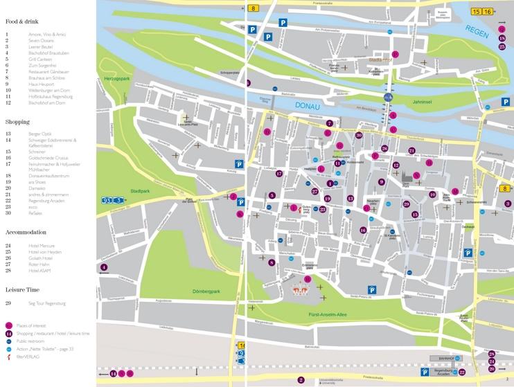 regensburg tourist attractions map