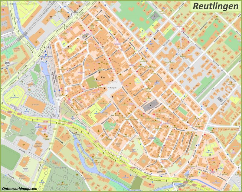 Map of Reutlingen