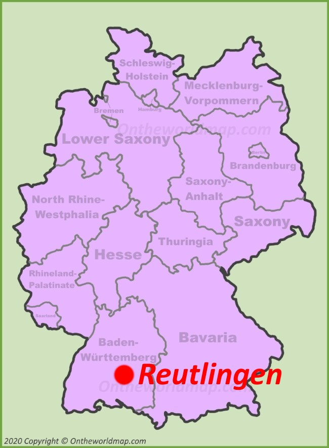 Reutlingen location on the Germany map
