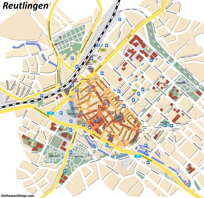 Reutlingen Tourist Map