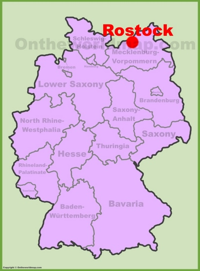 Rostock Location Map