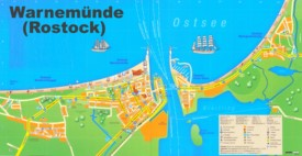 Warnemünde tourist map