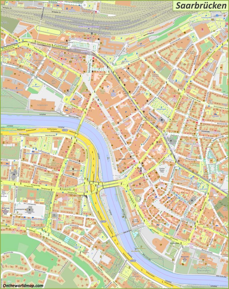 Map of Saarbrücken