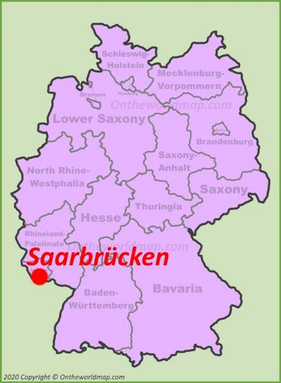 Saarbrücken Location Map