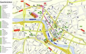 Saarbrücken Tourist Map