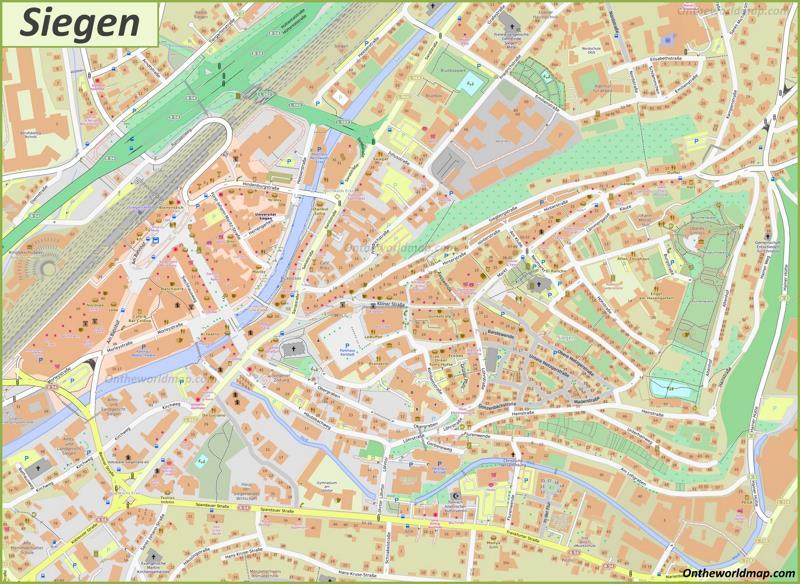 Map of Siegen