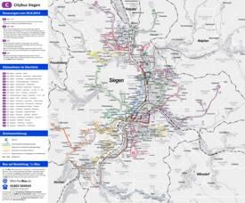 Siegen Bus Map