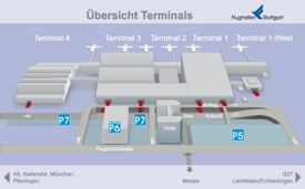 Stuttgart airport map