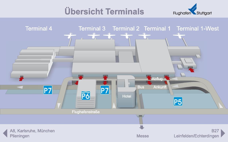 Stuttgart airport map