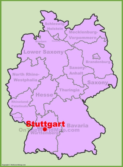 Stuttgart Location Map