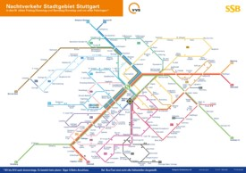 Stuttgart night S-Bahn map