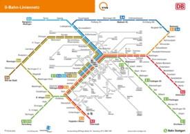 Stuttgart S-Bahn map