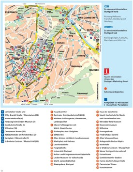 Stuttgart sightseeing map