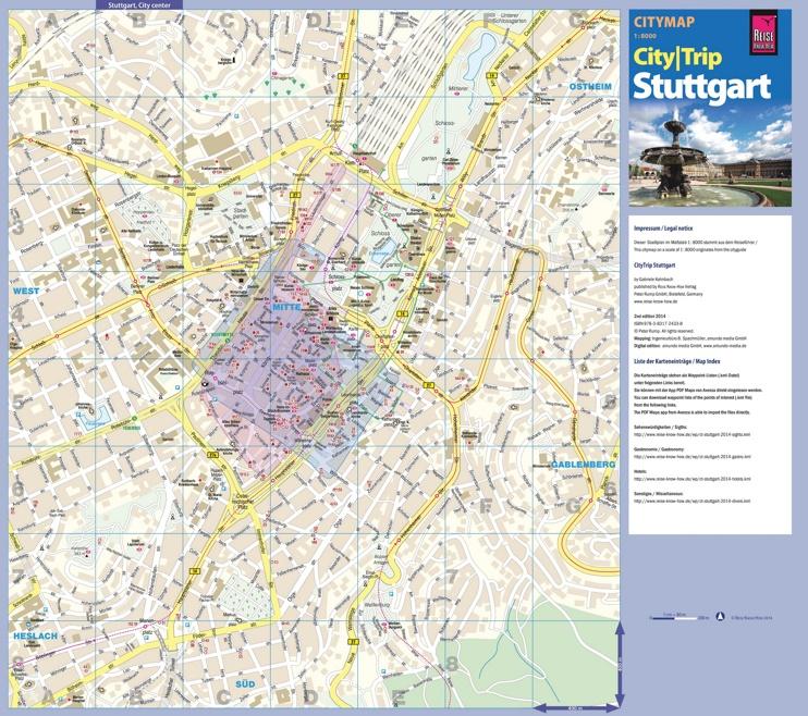 Stuttgart Map Of Germany.Stuttgart Tourist Map