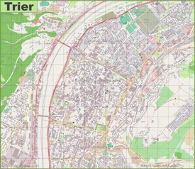 Large detailed map of Trier