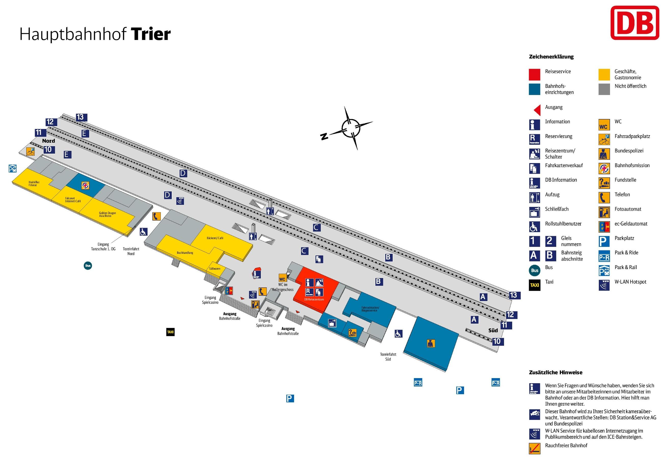 Trier hauptbahnhof map