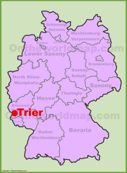 Trier Location Map
