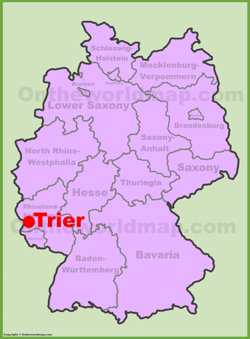 Trier location on the Germany map