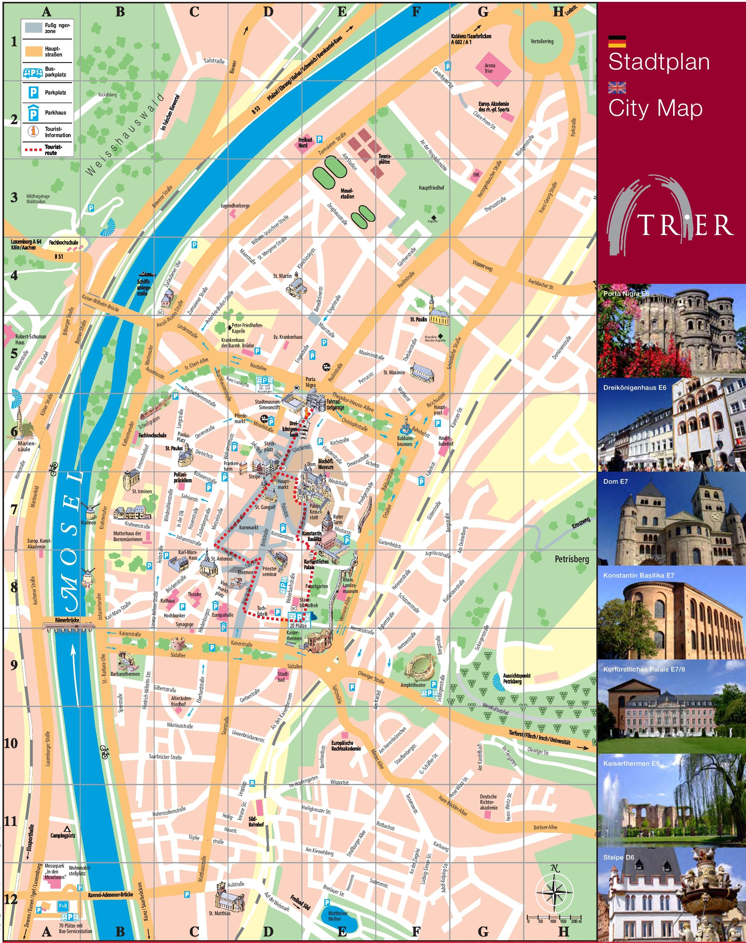 Trier Tourist Map - Germany map for tourist