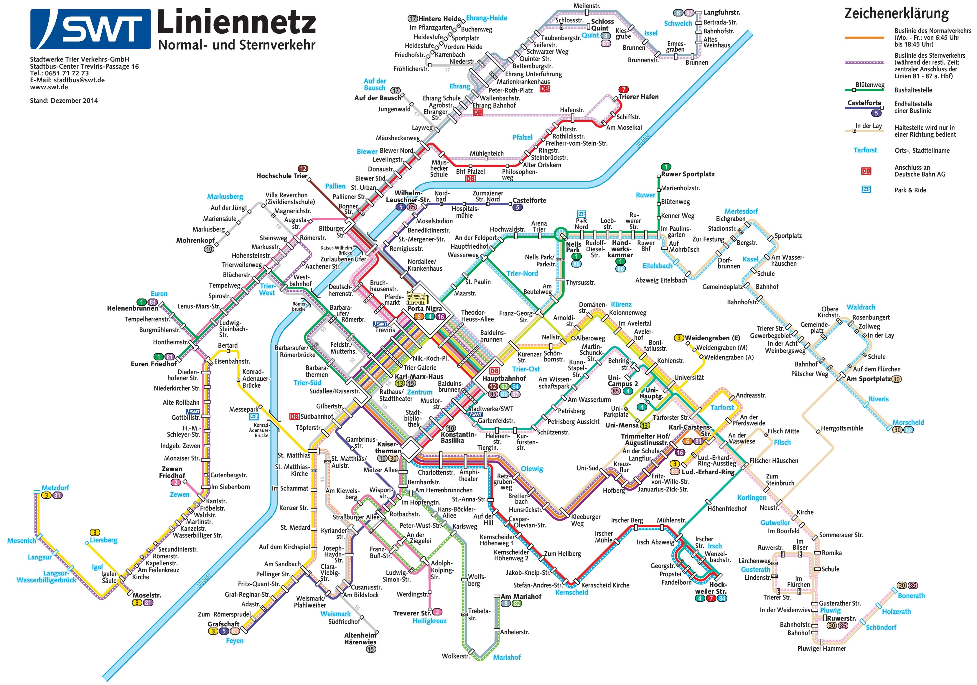 Trier transport map