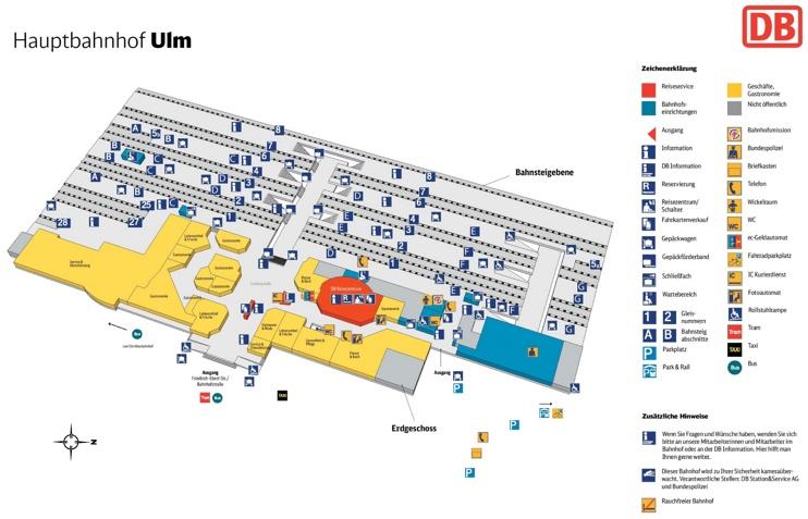 Ulm hauptbahnhof map