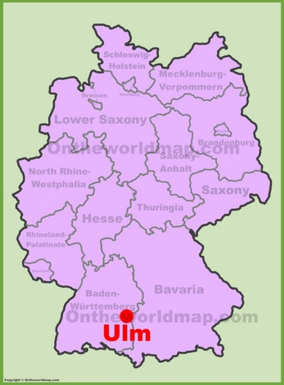 Ulm Location Map