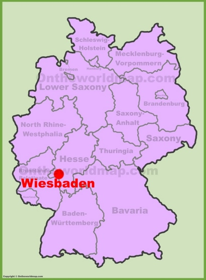 Wiesbaden Location Map