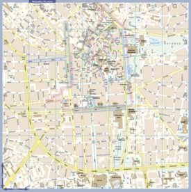 Wiesbaden tourist map