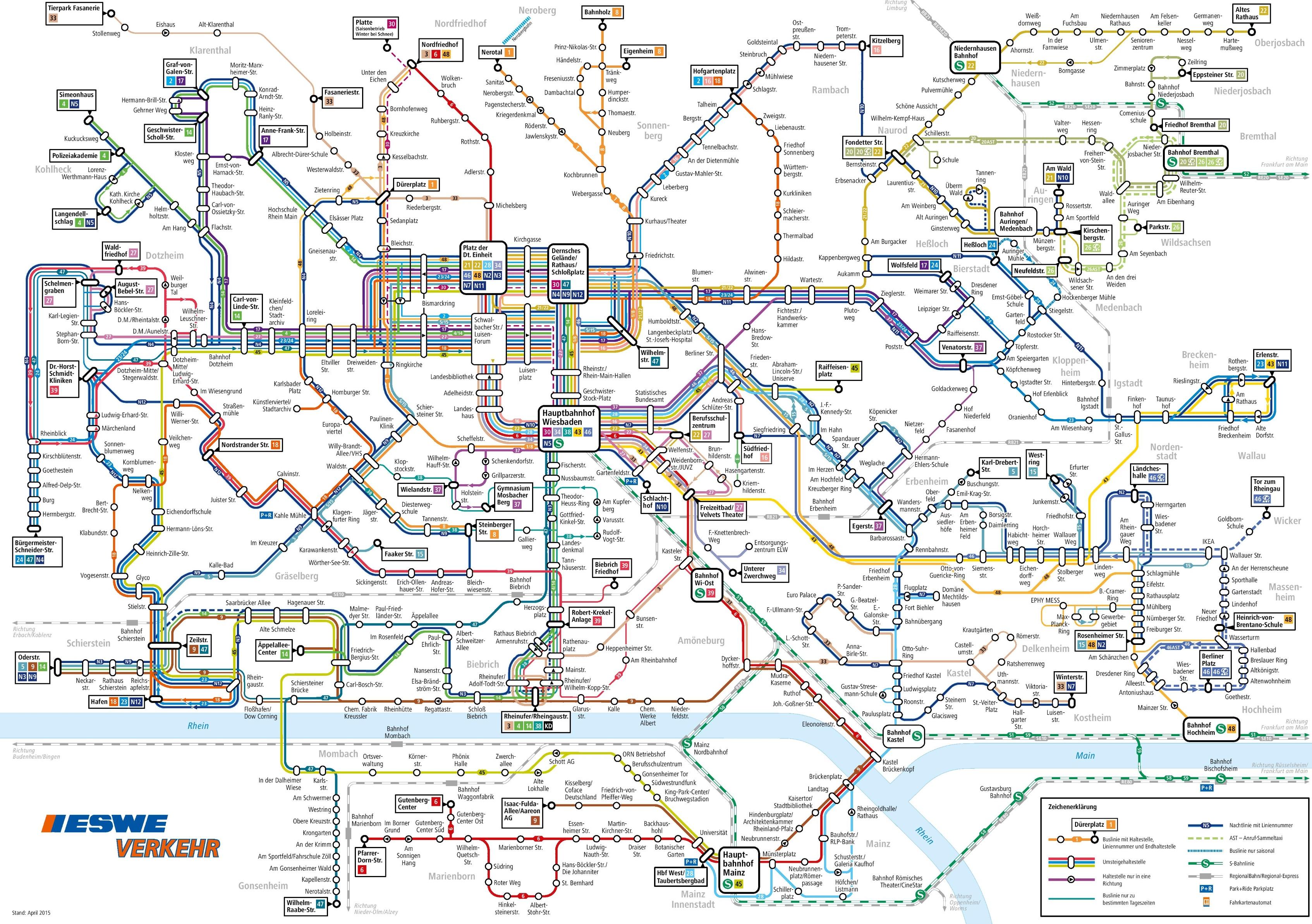 Wiesbaden transport map