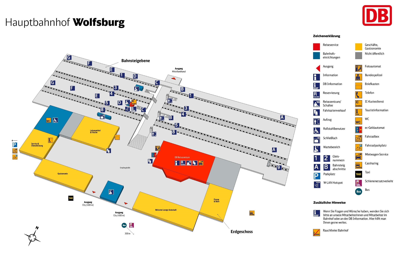 Wolfsburg hauptbahnhof map