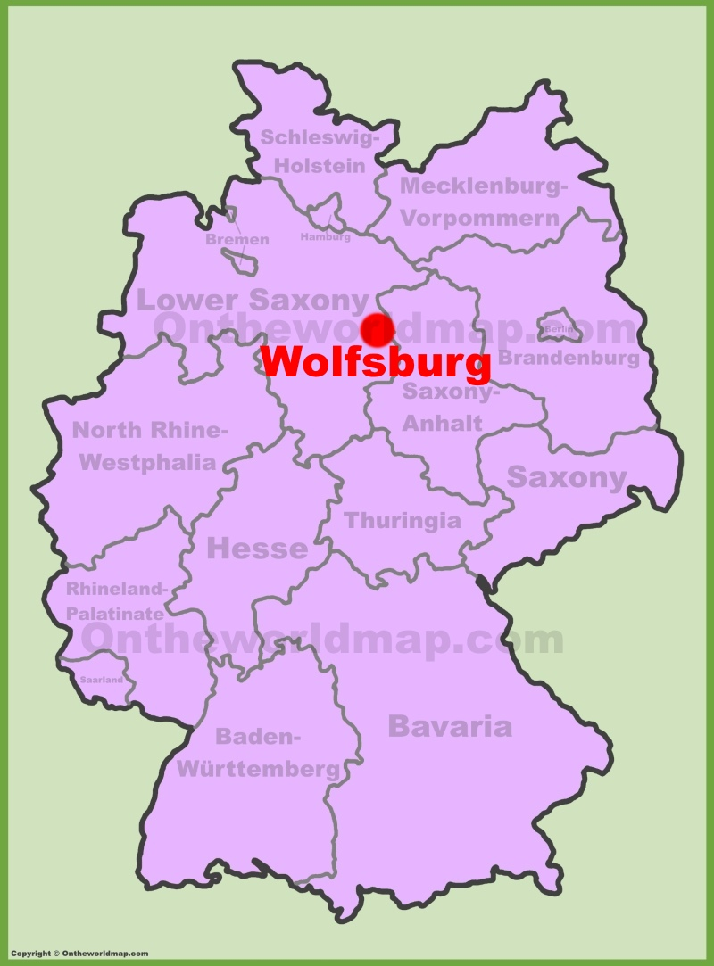 full size wolfsburg location map