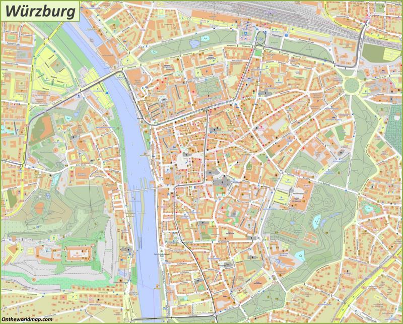 Map of Würzburg