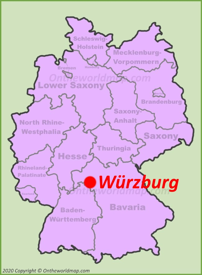 Würzburg location on the Germany map