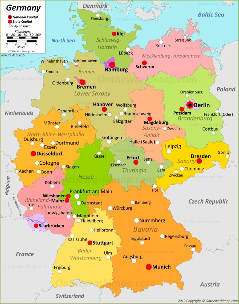 Printable Map Of Germany.Germany Maps Maps Of Germany