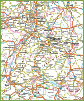 Baden-Württemberg road map