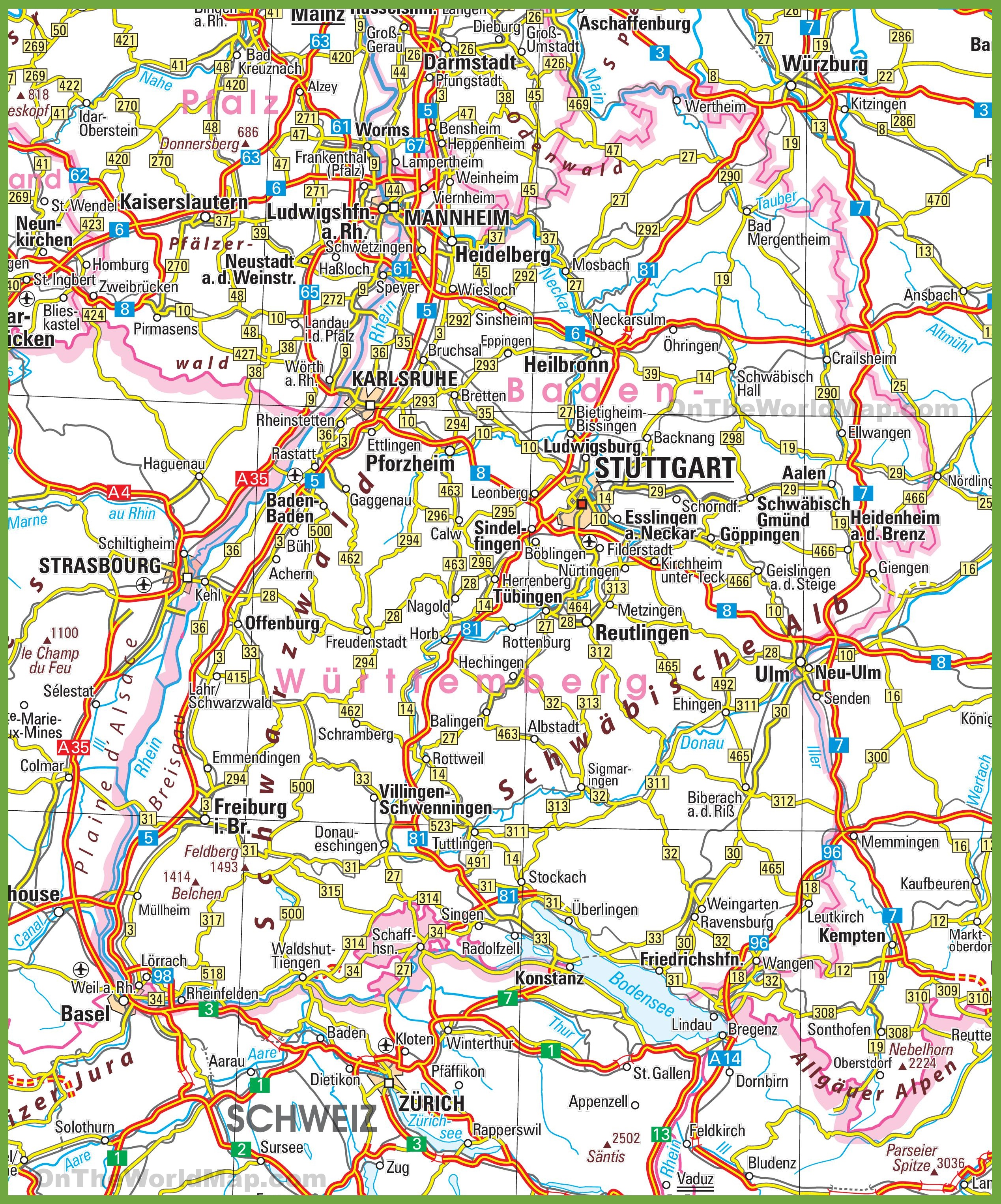 BadenWrttemberg road map