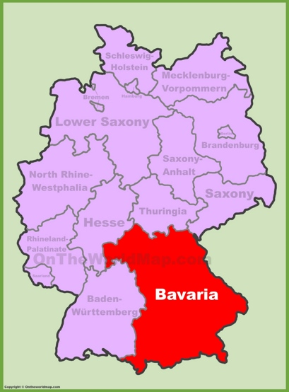 Bavaria Location Map